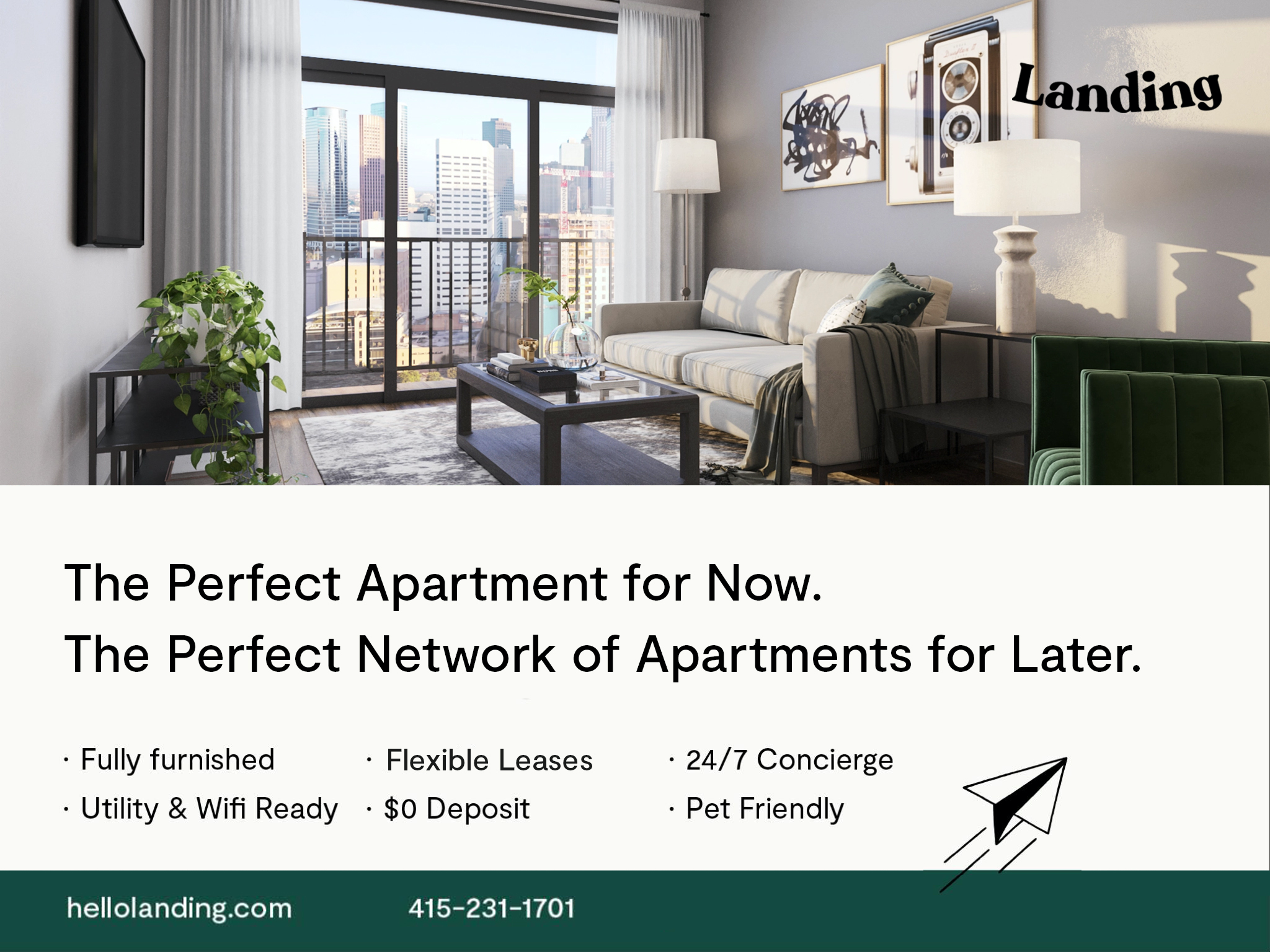 Landing Furnished Apartment Parker Hilltop Apartments rental