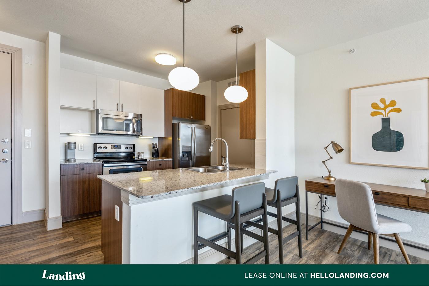 Live at Landing Furnished Apartment Keystone At Castle Hills